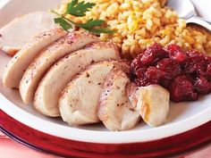 Cranberry Chicken recipe for fall and winter time clean eating