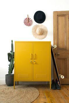 Mustard Made Metal Lockers - The Midi in Mustard Toy Storage, Tall Cabinet Storage, Locker Storage, Toy Cupboard, Linen Cupboard, Home Office, Garage Office, Metal Lockers, Hall Closet