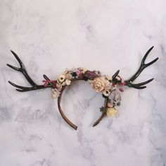 Floral Antler Headband Halloween Cosplay Deer