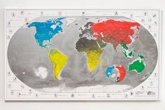 End of line Commemorative 2012 World Map