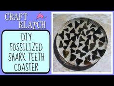 ▶ Fossilized Shark Teeth Coaster Another Coaster Friday Craft Klatch DIY - YouTube