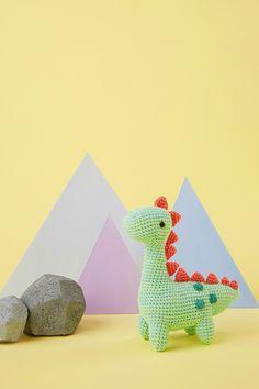 Mollie Makes amigurumi dinosaur toy crochet pattern