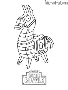 Fortnite Battle Royale Coloring Page Llama