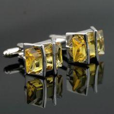 Tie Clip+Cufflinks. Cufflinks Sets. X-535 Engravable Stainless Steel Austrian Crystal. Tie Clips. Tie+Hanky+ Tie+Hanky+ Men's Wedding Cuff links + Gift Box FREE SHIPPING.