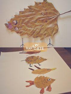 Fall Leaf art projects, Kids art project.