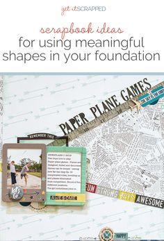 Scrapbook Ideas for Using Meaningful Shapes and Silhouettes in Your Scrapbook Page Foundations | Get It Scrapped