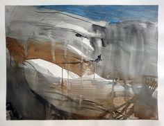 Espace dunaire - répertoire n° 1690 - by Philippe Chesneau - Aquarelle, encre de chine, brou de noix - Papier Arches satin 356 gr -  Dim. L 61 x H 46 cm