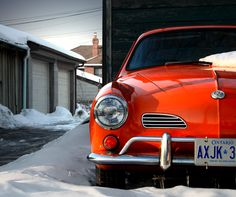 1965 Volkswagen Karmann Ghia . Somebody in my neighborhood is selling an orange one & when I saw it I almost died <3