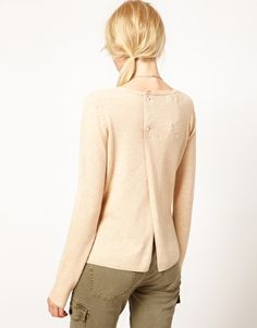 button back sweater - Google Search