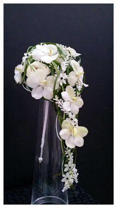 Orchidee op hoge vaas