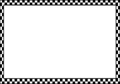 Checker Border Frame clip art