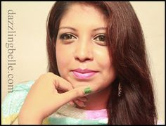 Eid make-up tutorial - Olive green and gold eye make-up with fuchsia lips