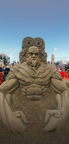 Funny pictures about Sand sculpture at the NZ Sandcastle Competition. Oh, and cool pics about Sand sculpture at the NZ Sandcastle Competition. Also, Sand sculpture at the NZ Sandcastle Competition. Snow Sculptures, Sculpture Art, Ice Art, Snow Art, Maori Art, Grain Of Sand, Beach Art, Oeuvre D'art, Amazing Art