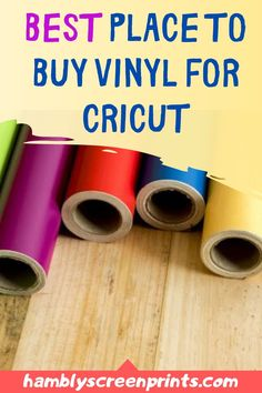 Find the best place to buy vinyl for Cricut here! Buy high-quality vinyl but not going to cost you a fortune. See the complete details on this pin! #vinyl #cricut #cricutmachine #adhesivevinyl Buy Vinyl, Vinyl Shirts, Cricut Vinyl, Vinyl Art, Vinyl Decals, Wall Decals, Ring Doorbell, Vinyl Cutter, Personalized T Shirts