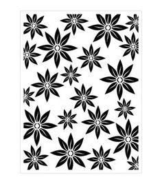 """Joggles Stencil 9""""X12""""-Bloom"""