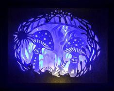 Forêt cachée - encadré Paper Cut - Art lumineux - Unique Art - Edition limitée - signé