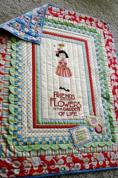 Jenny Garland: Mary Engelbreit Friends and Flowers Quilt