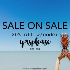 || 75% sounds good to us what do you think?!  | give our SALE section some love too amazing bikinis uuuuh-mazing deals bohobeachbabe.com {link in bio} || #bohobeachbabe X #saleonsale