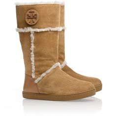 Tory Burch Amelie Shearling Boot ($325) via Polyvore