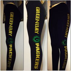 Green Bay Leggings by WendyMarisolDesigns on Etsy Packers Gear, Packers Baby, Go Packers, Green Bay Packers Fans, Packers Football, Greenbay Packers, Giants Football, Football Is Life, Football Memes