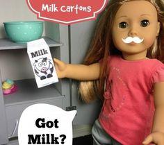 Doll Milk Carton
