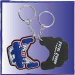 The following are the latest USA Made custom labels, rubber keychains, products, morale badges, emblems, PVC labels and patches from Flex.    Our USA Made custom labels, custom zipper pulls, charms, custom keychains and other products are made here in San Diego, Ca.    We are a USA manufacturer and USA Wholesaler of the custom 3D molded pvc labels, rubber keychains, and custom parts for scuba suits, medical products, velcro molded tabs, morale badges for the police and military.