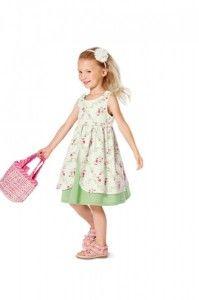 Süßes Mädchenkleid #Schnittmuster von #burda #sewing #pattern