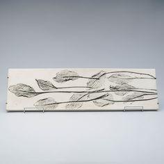 TOINI MUONA, ARABIA, signeerattu TM, seinälaatta, keramiikkaa, k 71 cm l 20 cm. Design