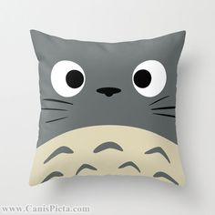Totoro Kawaii My Neighbor Throw Pillow 16x16 Graphic Print Art Cover Anime…