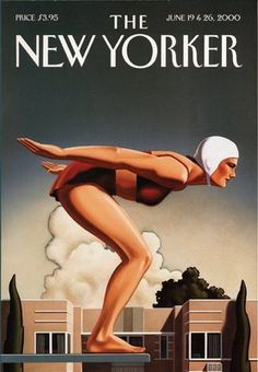 """""""The New Yorker"""" Magazine, June, Cover Art Magazine by Kenton Nelson (b. The New Yorker, New Yorker Covers, Art Deco Posters, Vintage Posters, Vintage Ads, Pinup, Retro, Something's Gotta Give, Personal History"""
