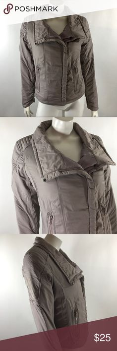 Gap Womens Jacket Sm  Solid Gray Moto Asymmetrical Gap Womens Jacket Size Small Solid Gray Moto Asymmetrical Zip Up Coat. Measurements: (in inches) Underarm to underarm:19 Length: 21 Sleeve:25 Good, gently used condition GAP Jackets & Coats