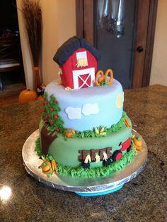 Farm Cake - ♥♥ - Farm birthday cake!