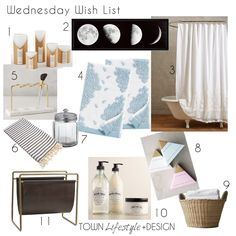 Wednesday Wishlist- Bathroom Favorites || Town Lifestyle + Design
