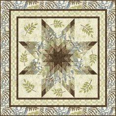 WOODLAND-STAR-QUILT-KIT-featuring-Stonehenge-Cottons-that-feel-like-silk