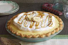 Butter, bourbon and brown sugar give this banana cream pie its yummy caramel flavor. If you want to knock their socks off, this is the dessert to make!