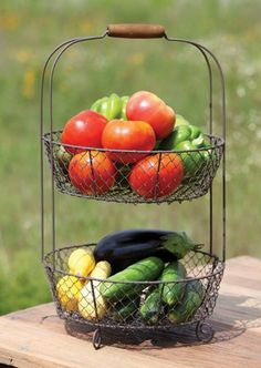 Vintage Style Two Tiered Vegetable Basket Stand by Park Hill, http://www.amazon.com/dp/B005AL1AZS/ref=cm_sw_r_pi_dp_Wxzfrb1V0F38S