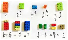 Lego is not for playtime only anymore. Here is a cool Lego idea - you can use LEGO To Explain Math To Children Easily . It includes fractions, squares . Math Games, Math Activities, Build Math, Math Fractions, Teaching Fractions, Multiplication Squares, 3rd Grade Fractions, Math Manipulatives, Teaching
