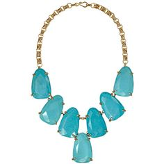 Kendra Scott Harlow Necklace in Turquoise. #laylagrayce #necklace