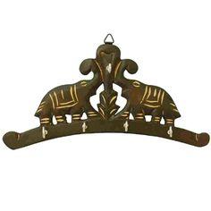 Wooden Elephant Key Hanger