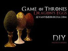 Diy Game Of Thrones Dragon S Eggs Easter Eggs Pascuas
