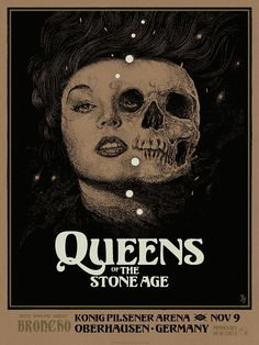 Band: Queens of the Stone Age Artist: Richey Beckett Edition: edition AP, hand signed and numbered out of 100 Year: 2017 Type: Limited edition screen printed poster Size: 18 x 24 Location: Oberhausen, DEU Venue: Konig Pilsener Arena Tour Posters, Band Posters, Music Posters, Event Posters, Screen Print Poster, Poster Prints, Gig Poster, Music Artwork, Poster Pictures