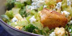 Buffalo Chicken Wing Salad with Blue Cheese .chef at home. Buffalo Chicken Wing Salad with Blue Cheese . Chicken Sauce Recipes, Sauce For Chicken, Chicken Wings, Food Network Recipes, Cooking Recipes, Blue Cheese Recipes, Blue Cheese Salad, Food Network Canada, Cold Meals