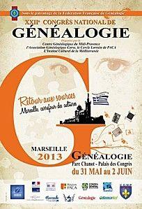 XXIIe CONGRÈS NATIONAL DE GÉNÉALOGIE MARSEILLE 2013