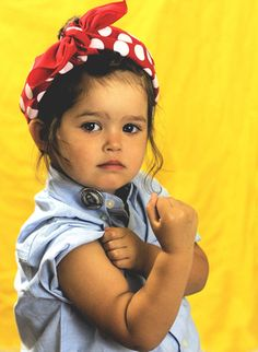 Another little Rosebud wearing a Rosie the Riveter Legacy Bandana Cute Costumes For Kids, Sister Halloween Costumes, Toddler Costumes, First Halloween, Baby Costumes, Cool Costumes, Halloween Kids, Costume Ideas, Halloween 2018