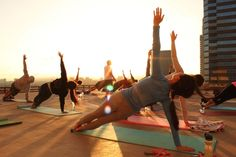 Rooftop Yoga is Hatha Yoga on the rooftop overlooking the Washington, DC skyline as the sun sets. The class focuses on physical health and mental well-being using bodily postures (asanas), breathing techniques (pranayama), and meditation (dyana) with the goal of bringing about a sound, healthy body and a clear, peaceful mind. The class will use Hatha yoga postures to stretch and align the body, promoting balance and flexibility.