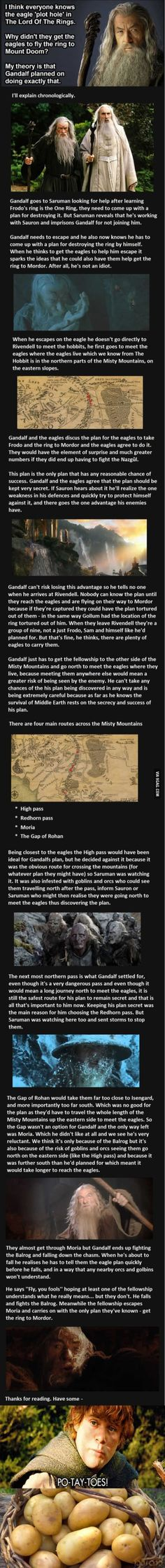 """A theory about the eagle """"plot hole."""" This is the best explanation I've ever heard!"""