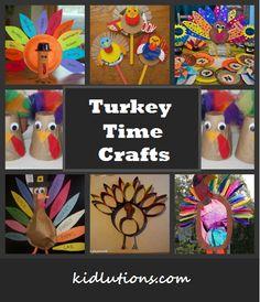 Turkey Time Crafts for Kids