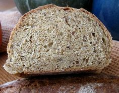 Make a loaf of spent grain bread from leftovers from the beer-brewing process. It's a very nutritious loaf loaded with fiber and protein.