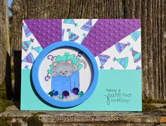 Designs by Dragonfly: Birthday Card ~ Celebration | Cat birthday stamp by Newton's Nook Designs
