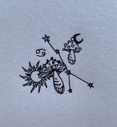 Simplistic Tattoos, Unique Tattoos, Cool Simple Tattoos, Mini Tattoos, Small Tattoos, Psychedelic Tattoos, Cow Tattoo, Mushroom Tattoos, Tiny Tattoos For Women
